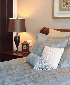 bed room home staging hunter lake