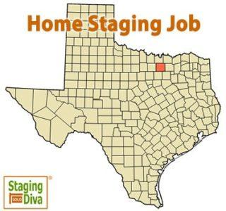 Texas home staging job
