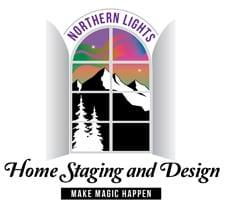 home staging business logo northern lights