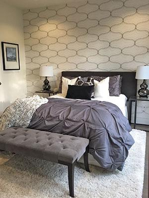 staged home bedroom