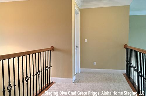 Hallway before staging
