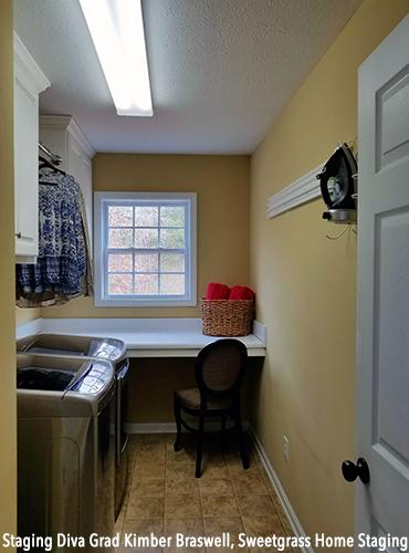 Laundry Area After Staging