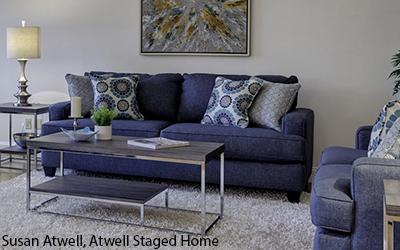 LIving Room Staged by Susan Atwell