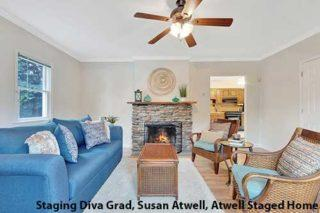 Living Room After Staging - Susan Atwell